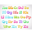 glossy alphabet vector image vector image