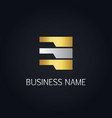 gold data line abstract business logo vector image