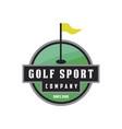 golf sport logo vector image