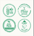 grunge label set for restaurant and pizzeria vector image vector image