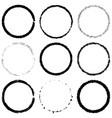grunge rings set vector image vector image
