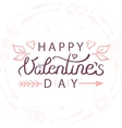 hand drawn valentines day vector image vector image