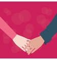 hands holding couple male female fall in love vector image
