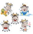 Happy cow Clip-Art Cartoon vector image