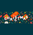 holiday new year card - merry christmas vector image vector image