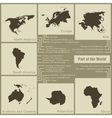 infographics parts of the world in the earth vector image vector image