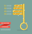 key success business infographic vector image