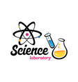 laboratory chemical medical logo vector image