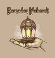 lantern fanus ramadan vector image vector image