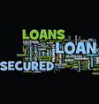 let us uncover the mystry of secured loans text vector image vector image