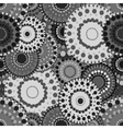 Mechanical seamless pattern black white gray vector image