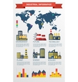 Modern industrial flat infographic background vector image vector image