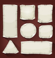 old torn paper set vector image vector image