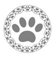 paw print dog cat icon vector image