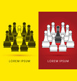 pawn chess vector image vector image