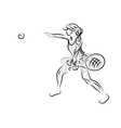playing tennis vector image vector image