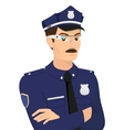 Policeman wearing smartglasses vector image vector image