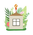 process building house small cottage under vector image vector image