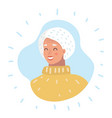profile icon senior female head vector image vector image
