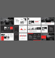 red and black element for slide infographic on vector image