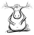 Reindeer cartoon sketch vector image vector image