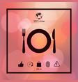 restaurant icon symbol vector image vector image