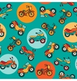 Seamless pattern with circles and motorcycles vector image vector image