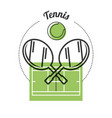 set concept icon tennis sport vector image