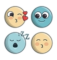 set emoticons differents feelings and expression vector image