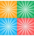 Set of four retro background vector image