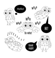 Set owl bubbles isolated vector image vector image