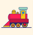 simple style color toy train vector image