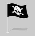 Skull and Bones Flag vector image vector image