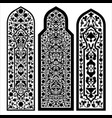 stained glass windows on white vector image vector image
