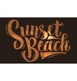 Sunset Beach Brush Script Lettering Type Design vector image vector image
