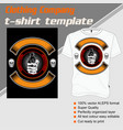 t shirt template hand handling gunisolated and vector image vector image