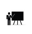 teacher front schoolboard black vector image