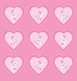 valentines day with cute pink cats on pink love vector image vector image