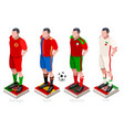 world cup soccer team vector image vector image