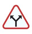Y - Intersection vector image vector image