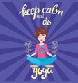 yoga and meditation concept background with text vector image vector image