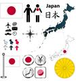 Japan map vector image