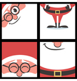Santa Square Banners vector image