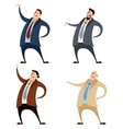Set of businessman vector image
