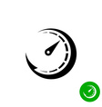 Timer black icon Scale indicator fast growth Speed vector image