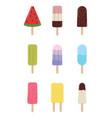 colorful ice cream vector image