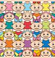 seamless background children vector image
