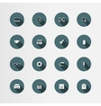16 office flat icons set vector image vector image