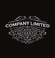 antique label typography vintage frame logo design vector image