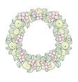 apple wreath summer color set vector image vector image